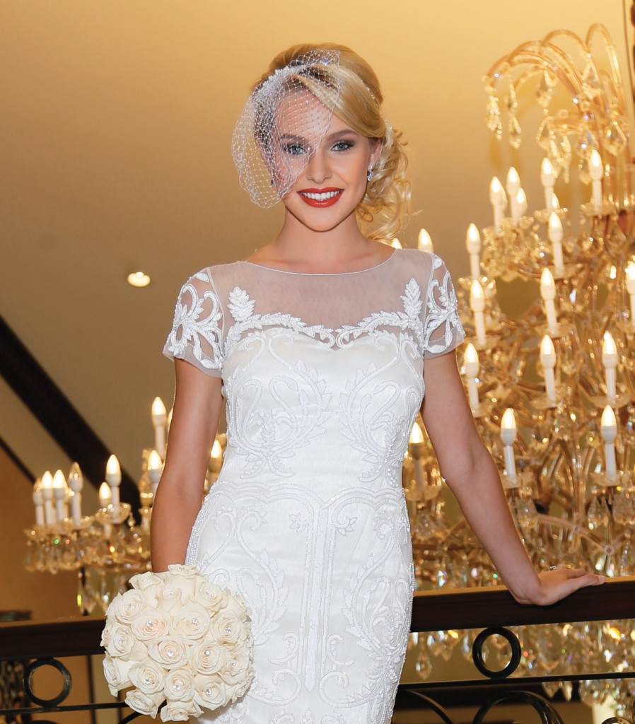 Makeup & Hair: The Bridal Suite NY. Gown: Belluccio at Designer Loft (Stephanie $2500). Bouquet: Ariston Flowers.
