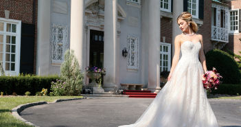 Gown: Oleg Cassini at David's Bridal (CWG 749, $1758), PMK Floral Arts