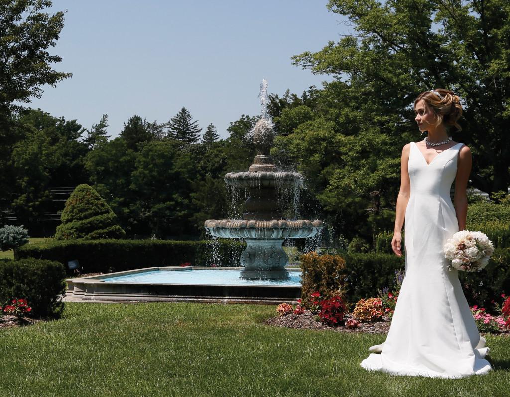 Gown: Steven Birnbaum (Jo, $3200), PMK Floral Arts