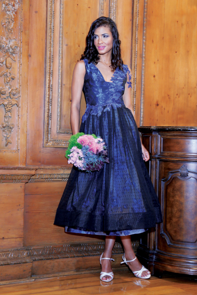 Bridesmaid Dress: Jenny Couture. Bouquet: Mitch Kolby Events