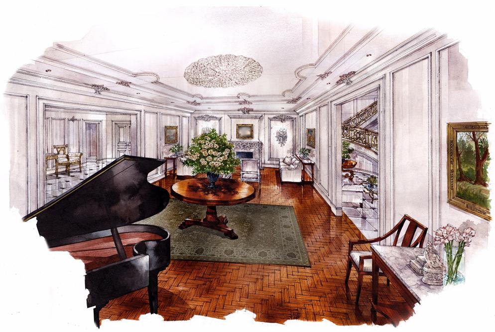 Park Chateau, Living Room