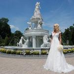 Gown: Oleg Cassini at David's Bridal (CWG 748, $1358)