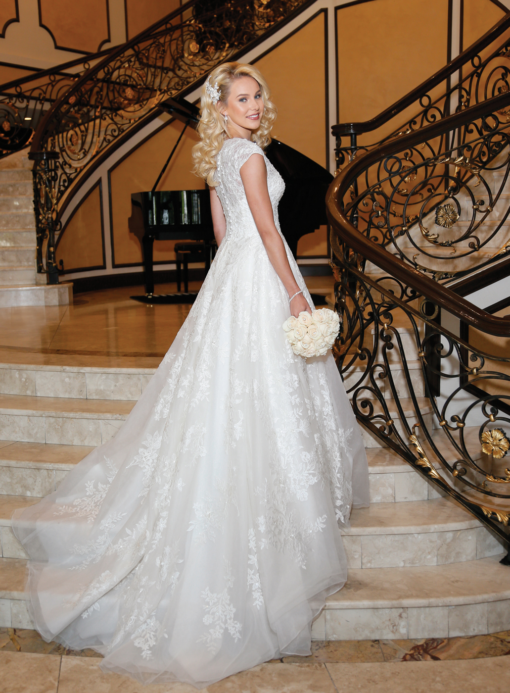 Oleg Cassini at David's Bridal (CWG 748, $1358)