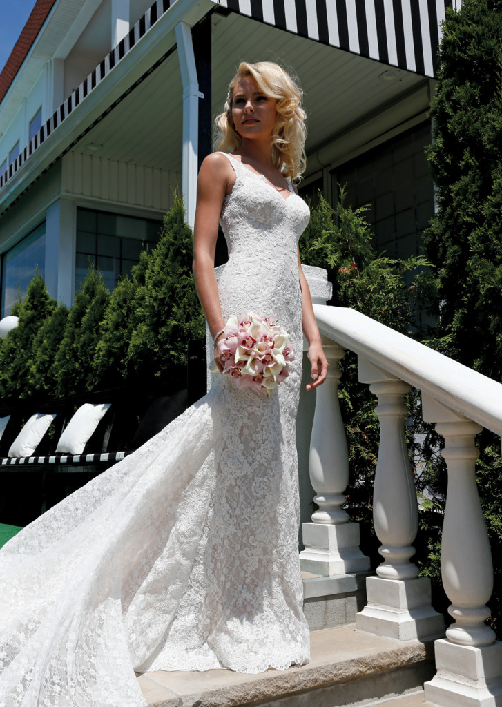 Oleg Cassini at David's Bridal (CWG 747, $1358)