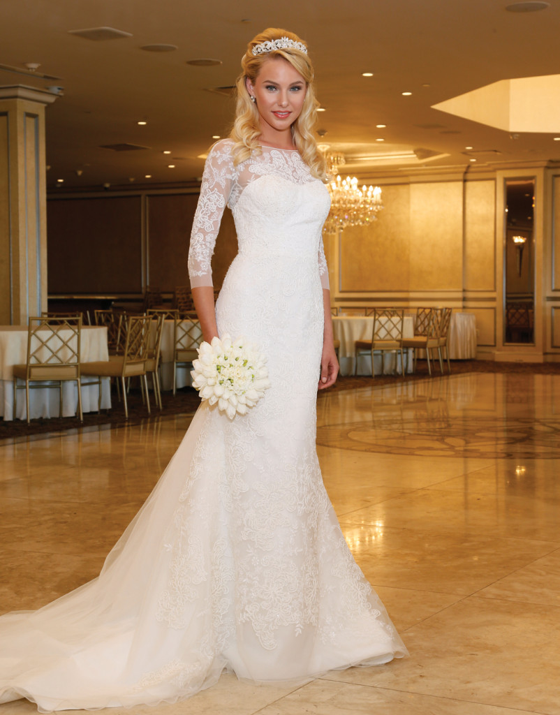 Oleg Cassini at David's Bridal (CWG 710, $1250)