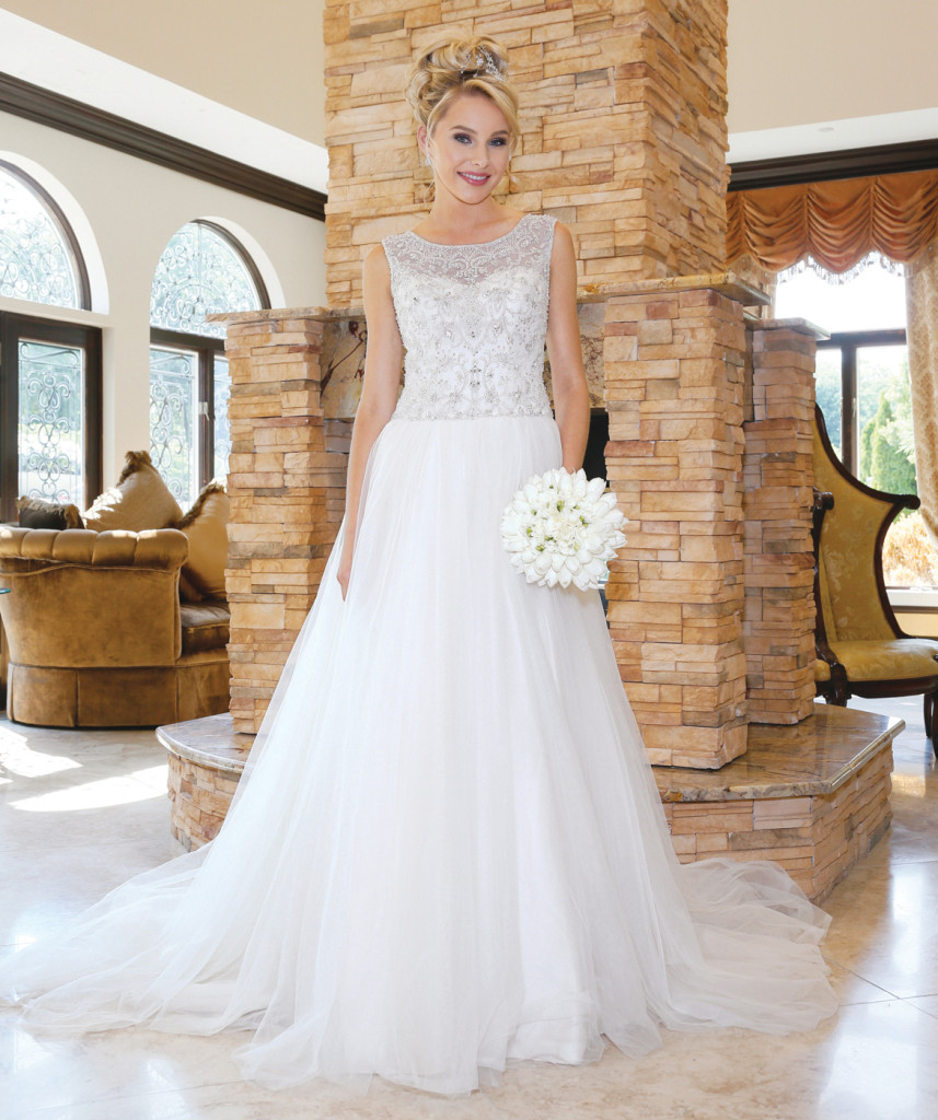 Oleg Cassini at David's Bridal (CV 745, $1158)