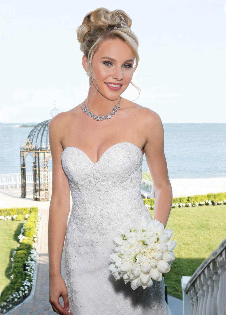 Gown: Oleg Cassini at David's Bridal (CWG 741, $1350)