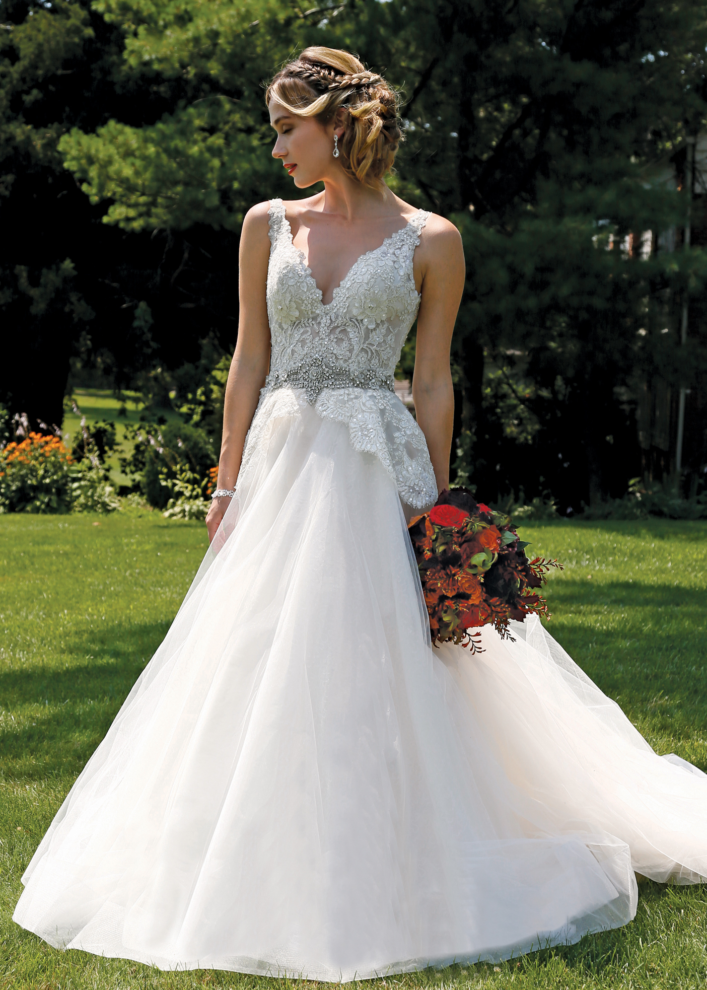 Ballgown dress bridal wedding gown by eve of milady ny nj for Wedding dress preservation nyc