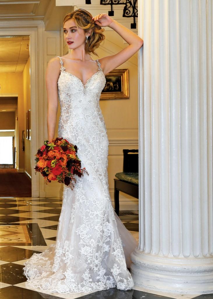 Sheath Dress Bridal Wedding Gown By Eve Of Milady Ny Nj