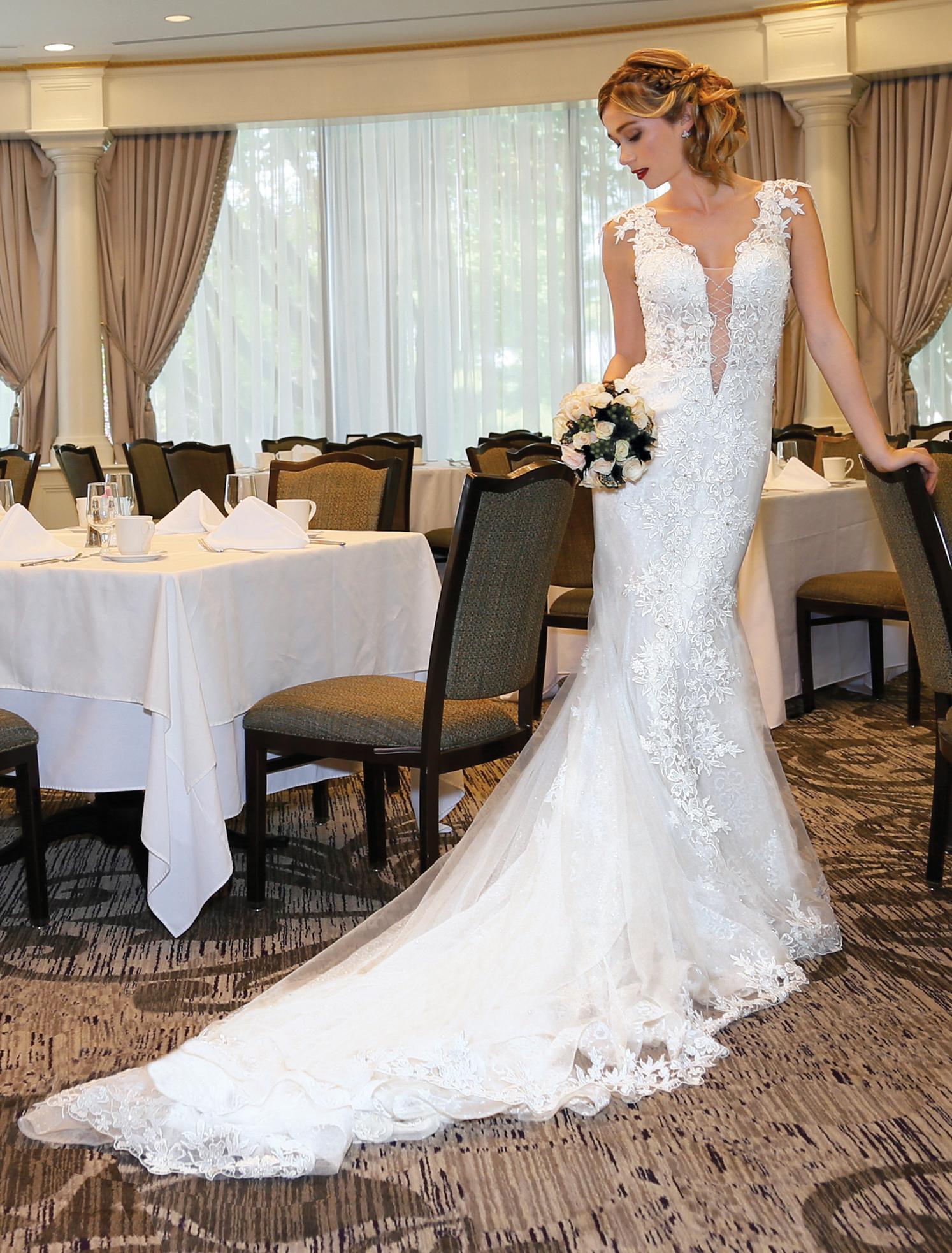 6573637ebd53 Trumpet Bridal Wedding Gown by Eve of Milady - NY, NJ