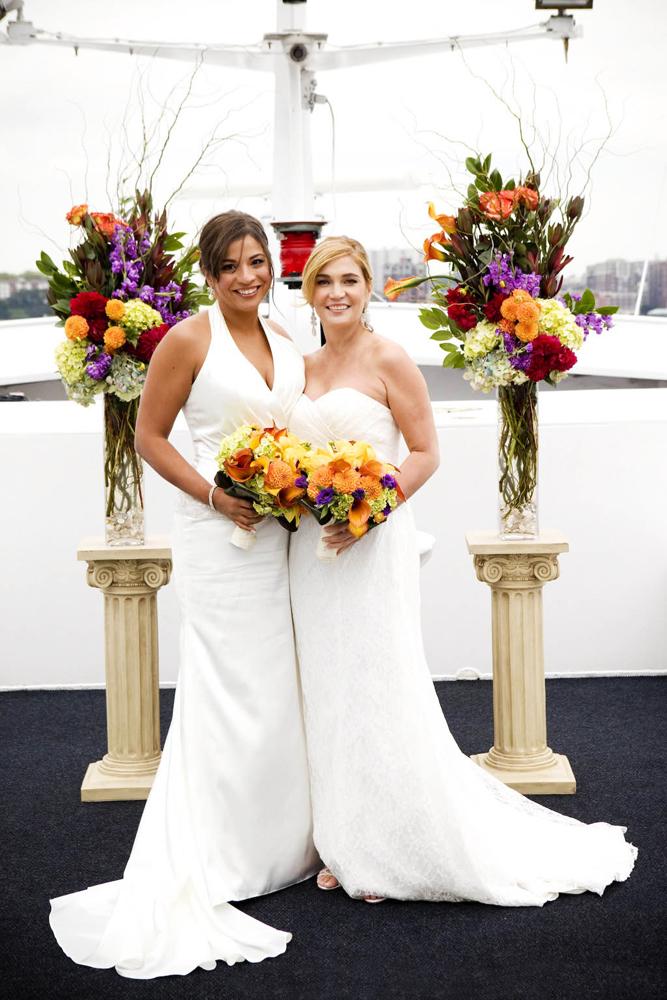 NY Boat Charter-Royal Princess Yacht (Photo: Josh Strauss Weddings)