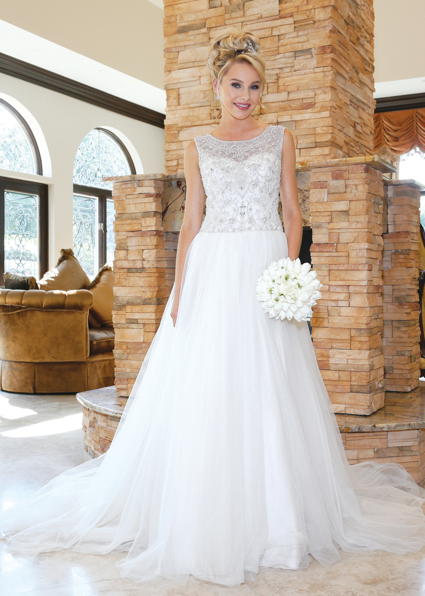 Glamorous Ballgown Wedding Dress by Oleg Cassini NY, NJ