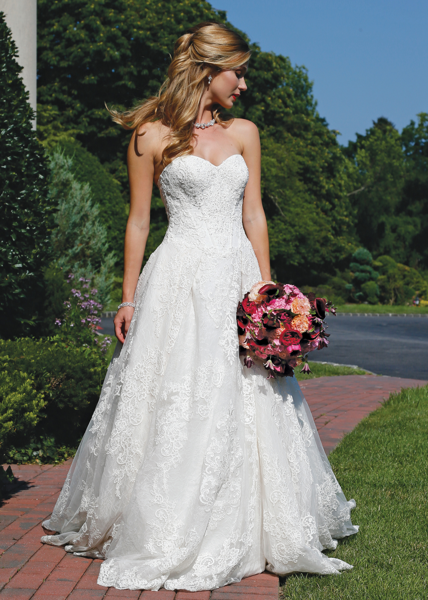 Ballgown dress bridal wedding gown by oleg cassini ny nj for Wedding dress designer oleg cassini