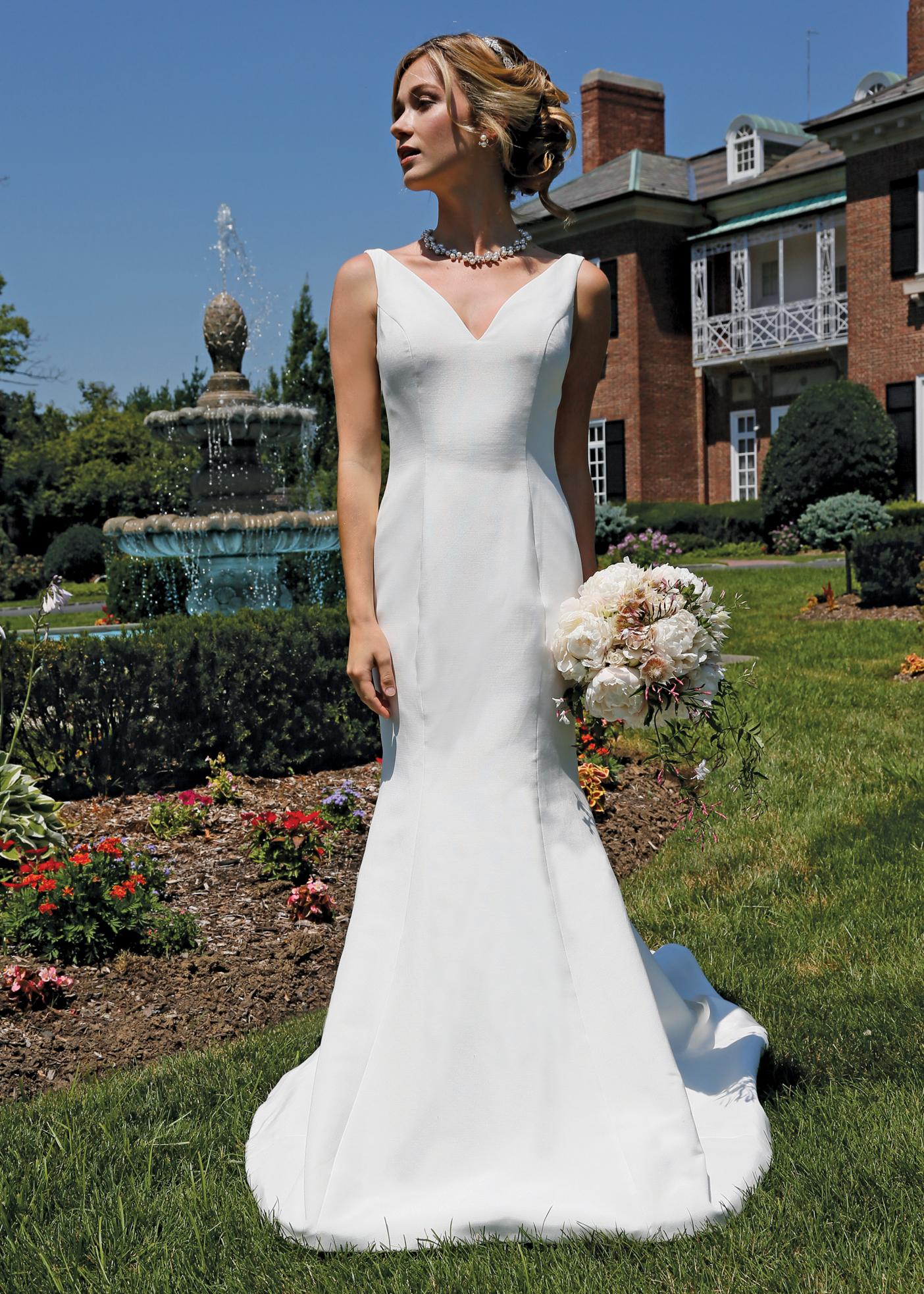 Trumpet dress bridal wedding gown steven birnbaum ny nj for Wedding dress preservation nyc