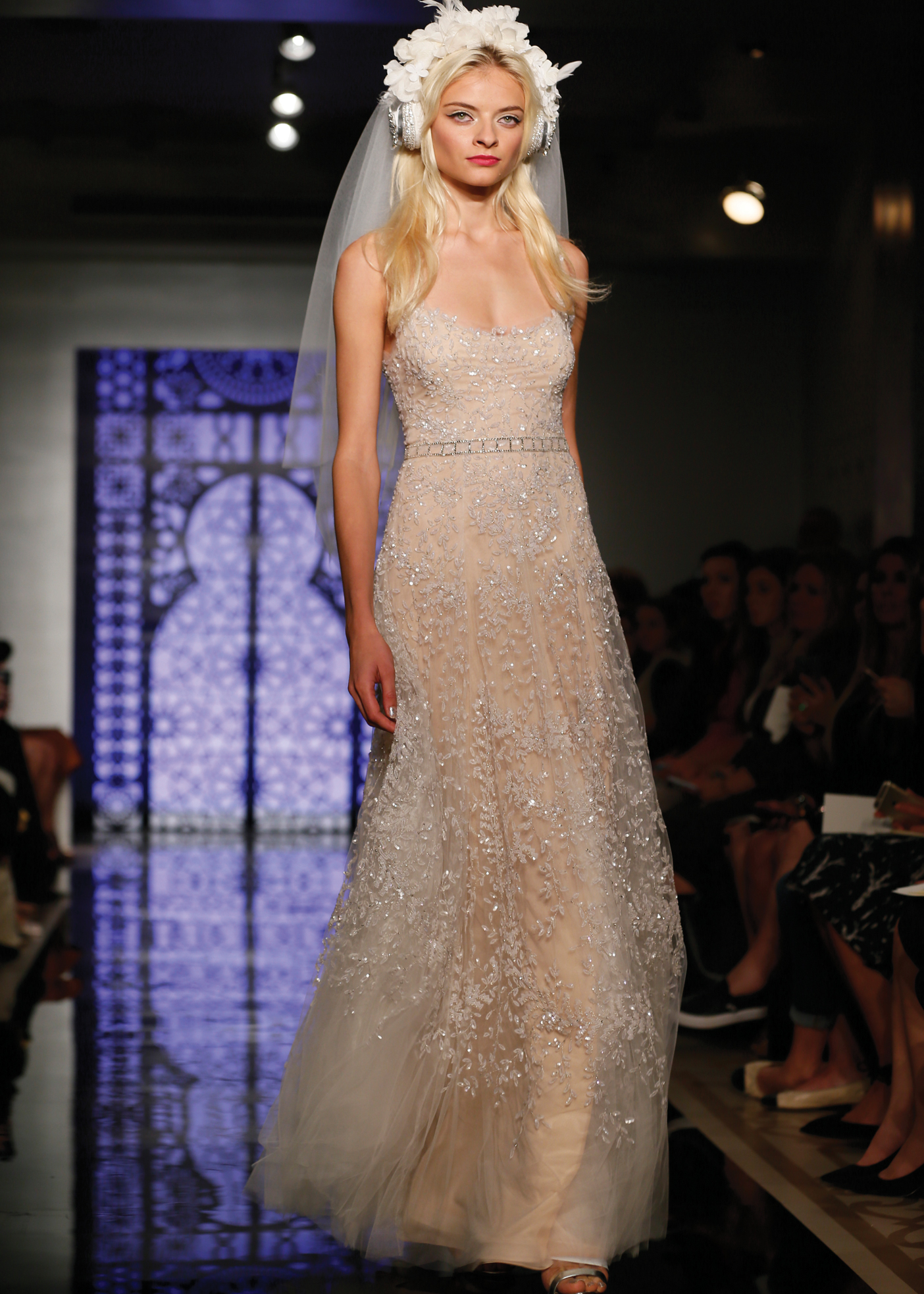 Fit to Flare Bridal Wedding Gown by Reem Acra in NY, NJ