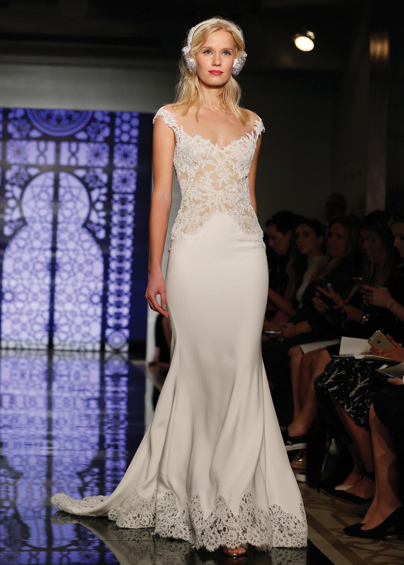 Mermaid Dress Bridal Wedding Gown by Reem Acra in NY, NJ