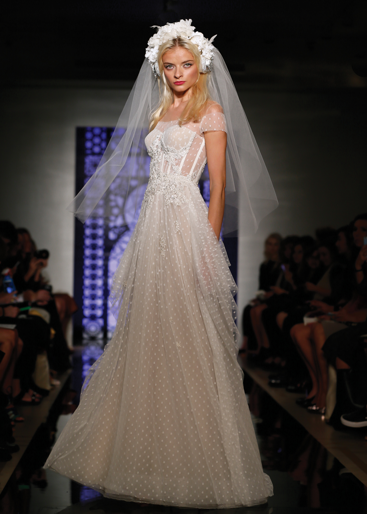 A-Line Dress Bridal Wedding Gown by Reem Acra in NY, NJ