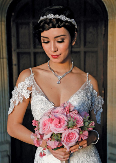 Hair & Makeup: The Bridal Suite NY, Gown: Eve of Milady (1586), Bouquet: Sandra's & Donath's Florist