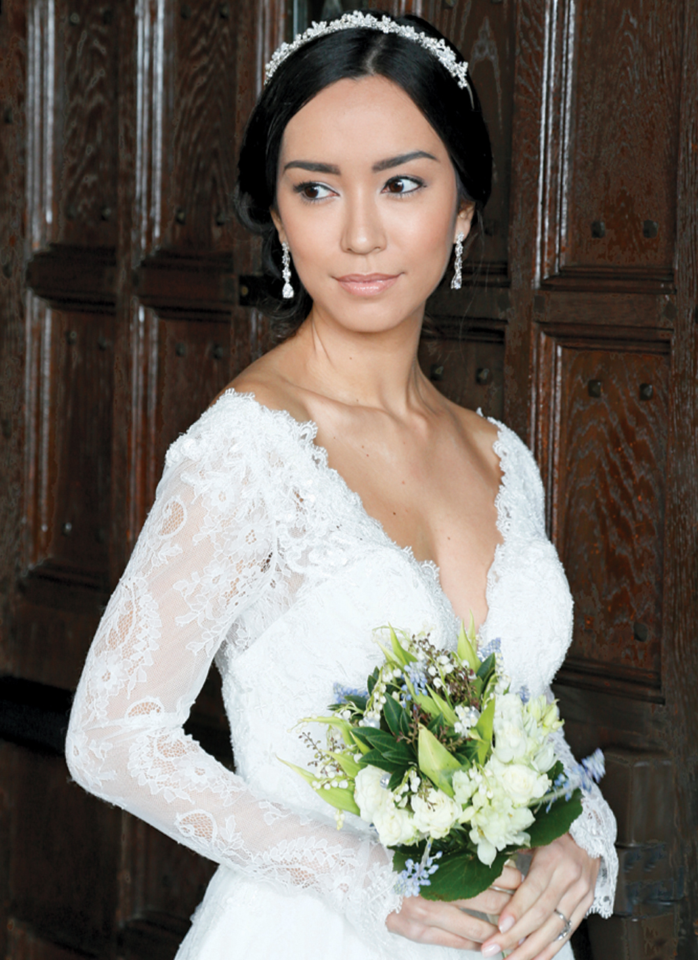 Hair & Makeup: The Bridal Suite NY, Gown: Oleg Cassini (CWG770), Bouquet: Sandra's & Donath's Florist