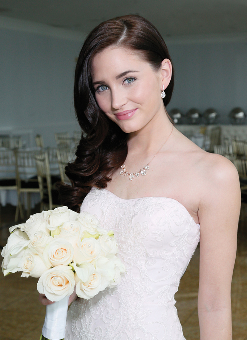 Hair & Makeup: The Bridal Suite NY, Gown: Oleg Cassini CWG737
