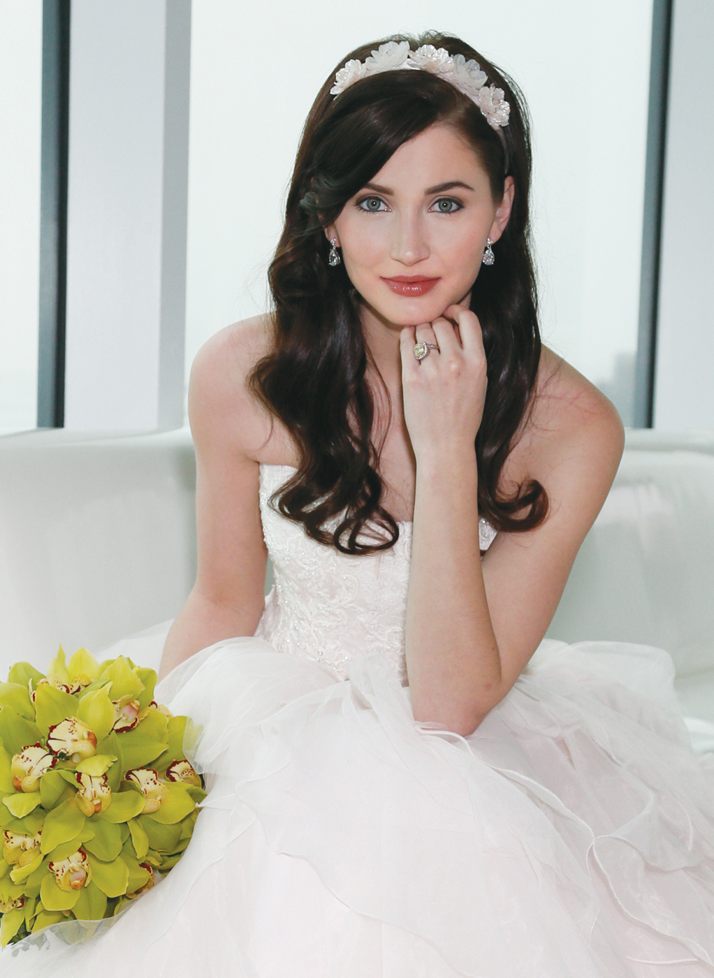 Hair & Makeup: The Bridal Suite NY, Gown: Oleg Cassini (CWG568), Bouquet: Ariston Flowers