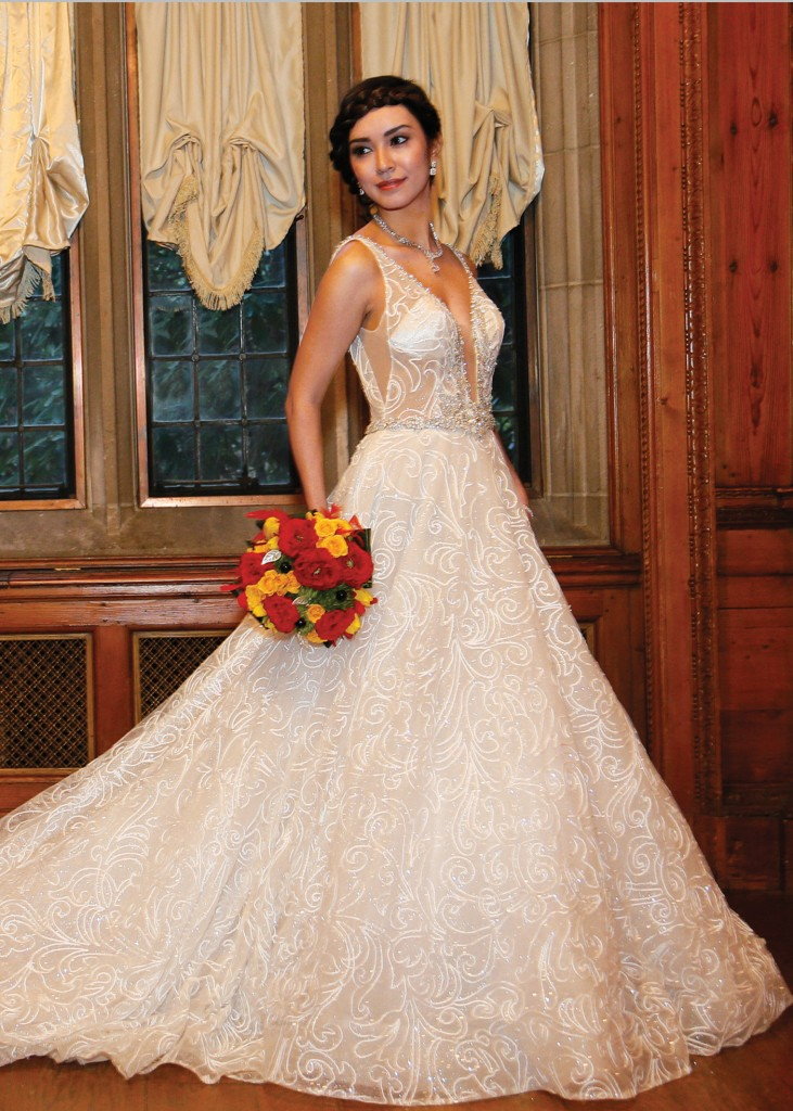 Glamorous ballgown wedding dress by eve of milady ny nj for Wedding dress preservation nyc