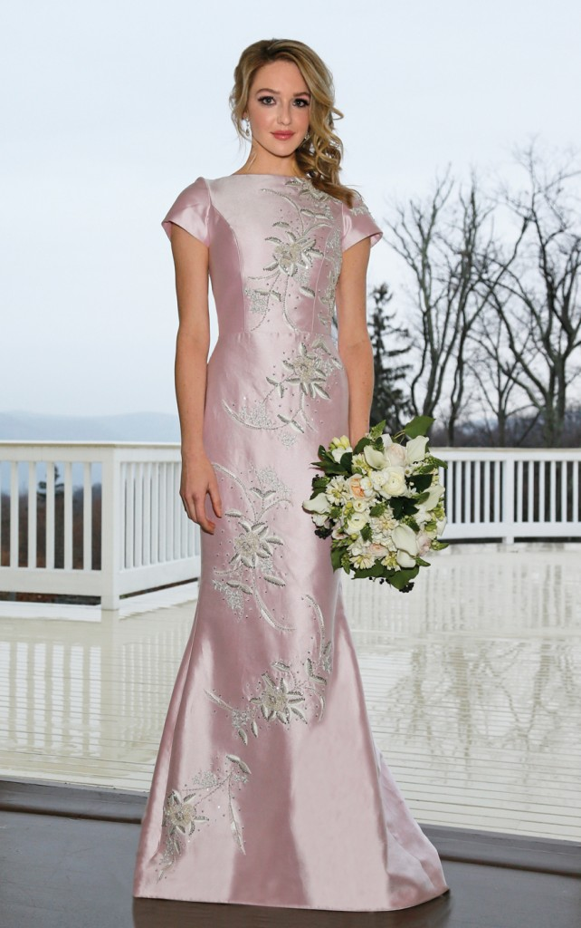 Gown: Lucia Rodriguez (LW8440, $5200), Ariston Flowers