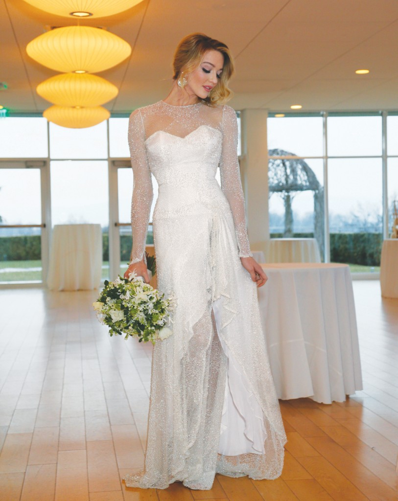 Gown: Lucia Rodriguez (LW4710, $7000), PMK Floral Arts