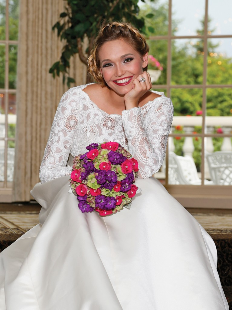 Bouquet: Henry's Florist. Gown: Steven Birnbaum (Theresa, $3300)