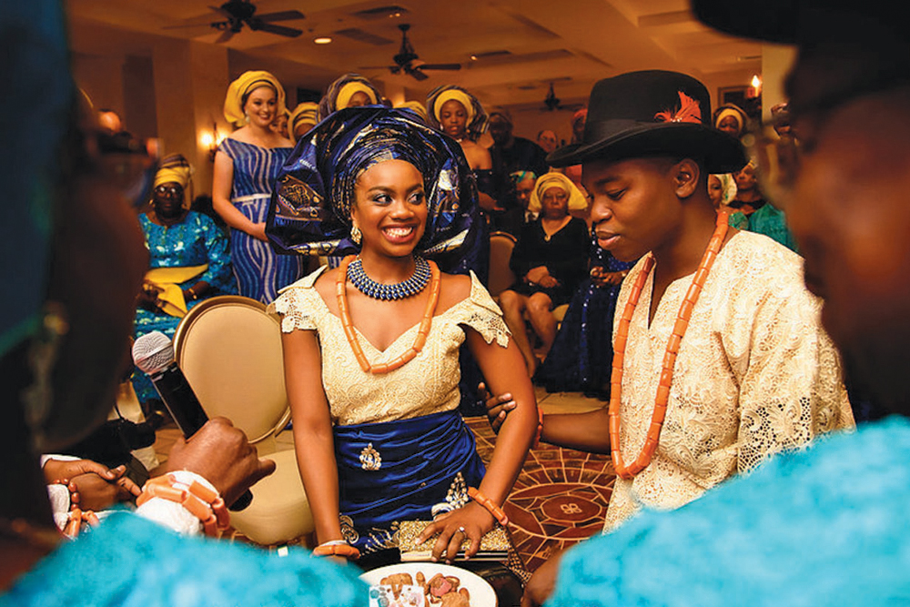 Urhobo outfits; Ruke's father's culture (Photo: Alakija Studios)