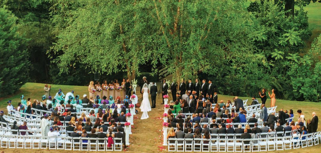 Blisse & Ruke, Their American Ceremony at Hilton Pearl River (Photo: Alakija Studios)