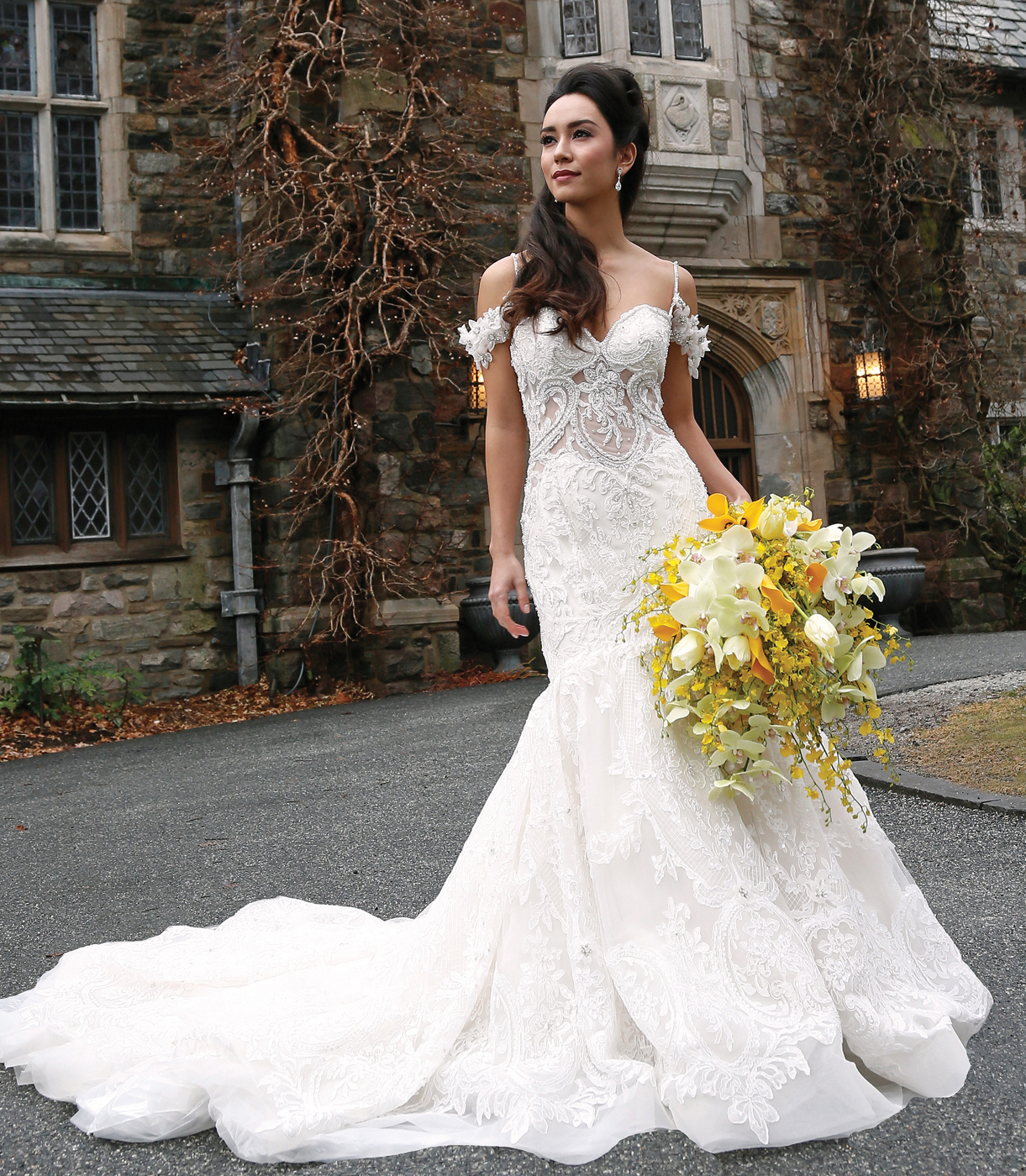 David S Bridal Wedding Gown Preservation: Bridal Looks At Skylands Manor From The Bridal Suite NY