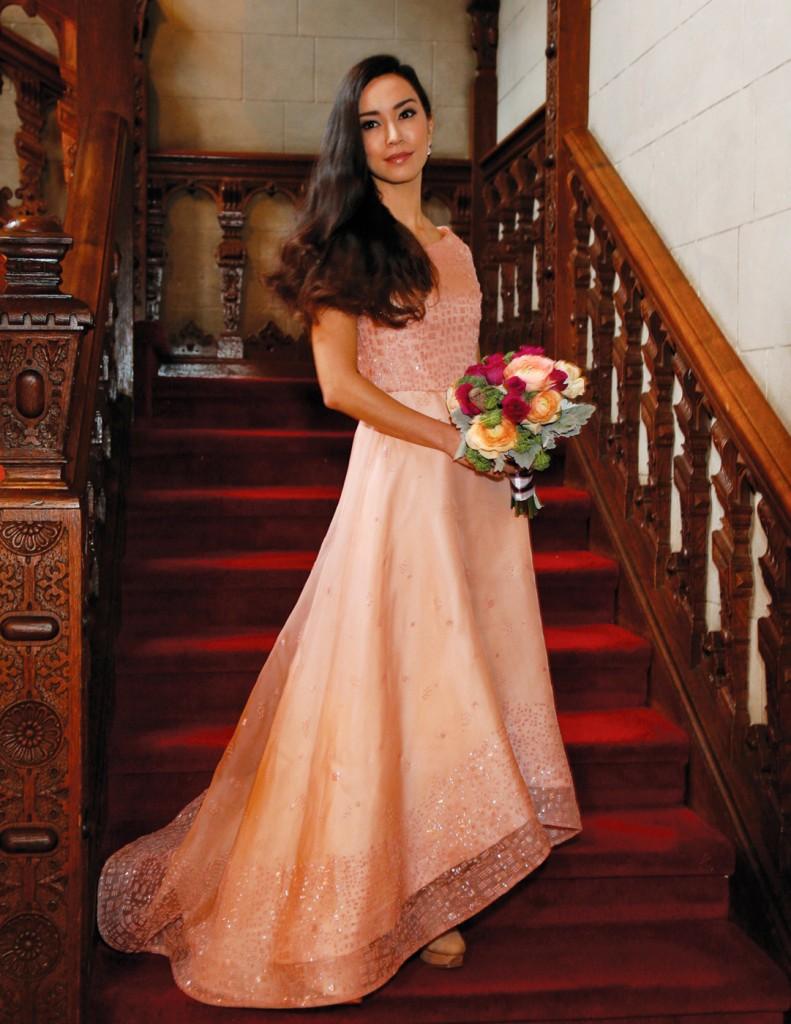 Gown: Lucia Rodriguez (LE8420, $5800), Sandra's & Donath's Florist