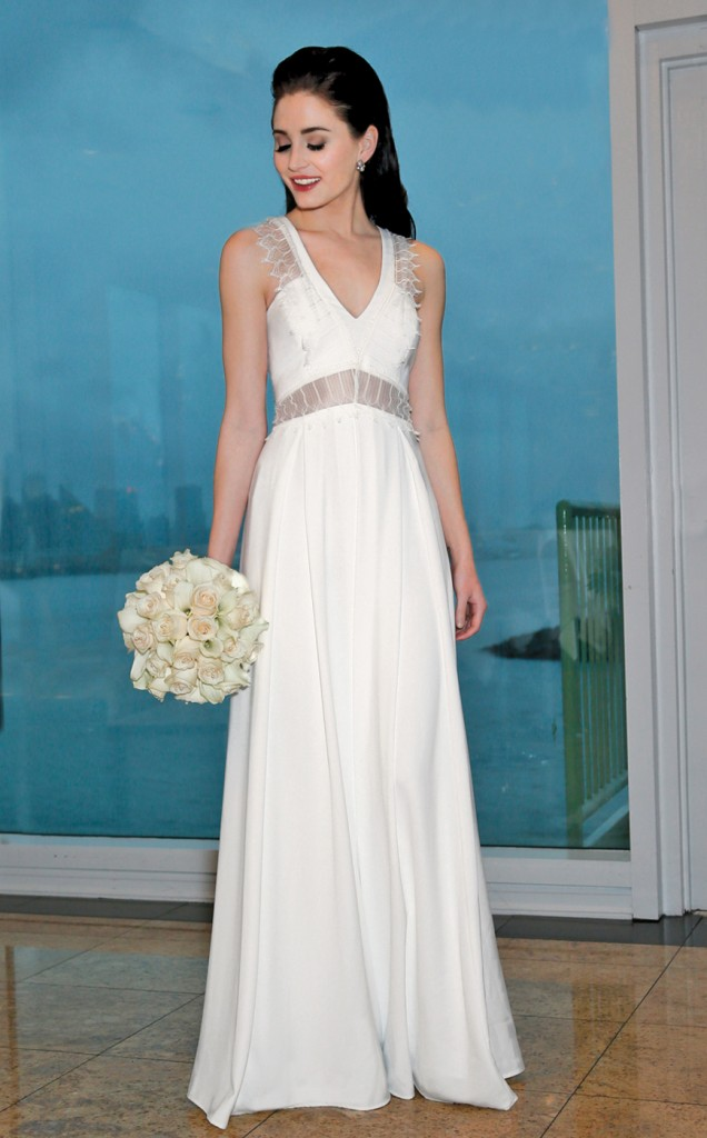 Gown: Rembo Styling (First, $2300), Ariston Flowers