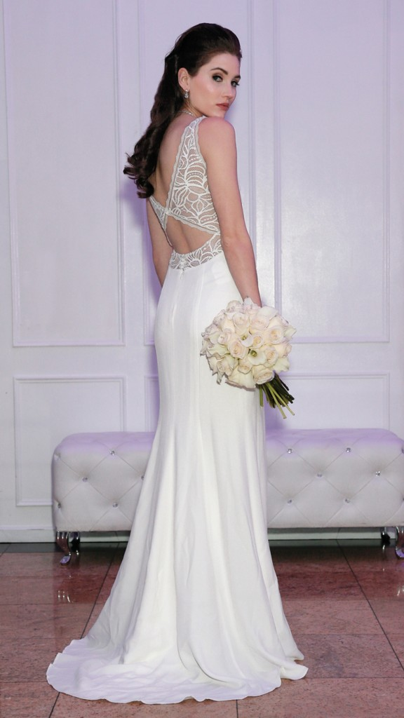 Gown: Rembo Styling (First, $2400), Ariston Flowers
