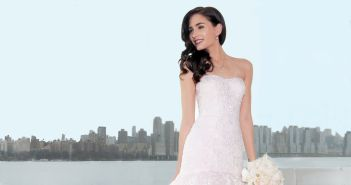 Gown: Oleg Cassini (CWG737, $1358), Ariston Flowers