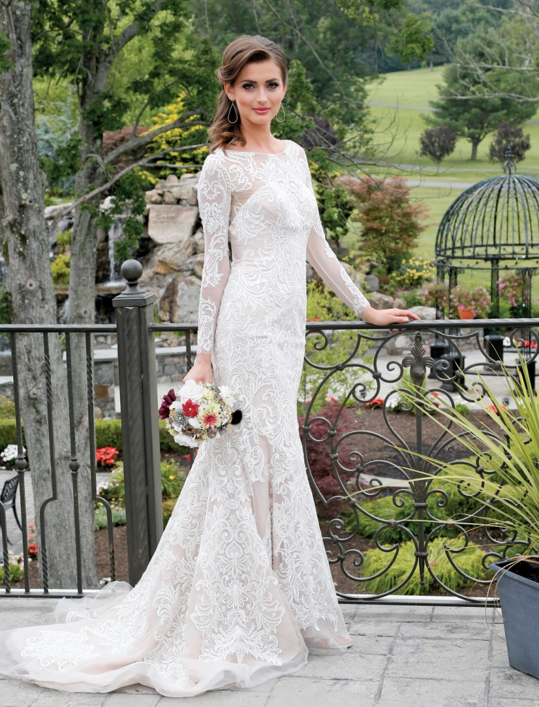 Gown: Oleg Cassini at David's Bridal (CWG670, $1,450), Forever Brooch Bouquets