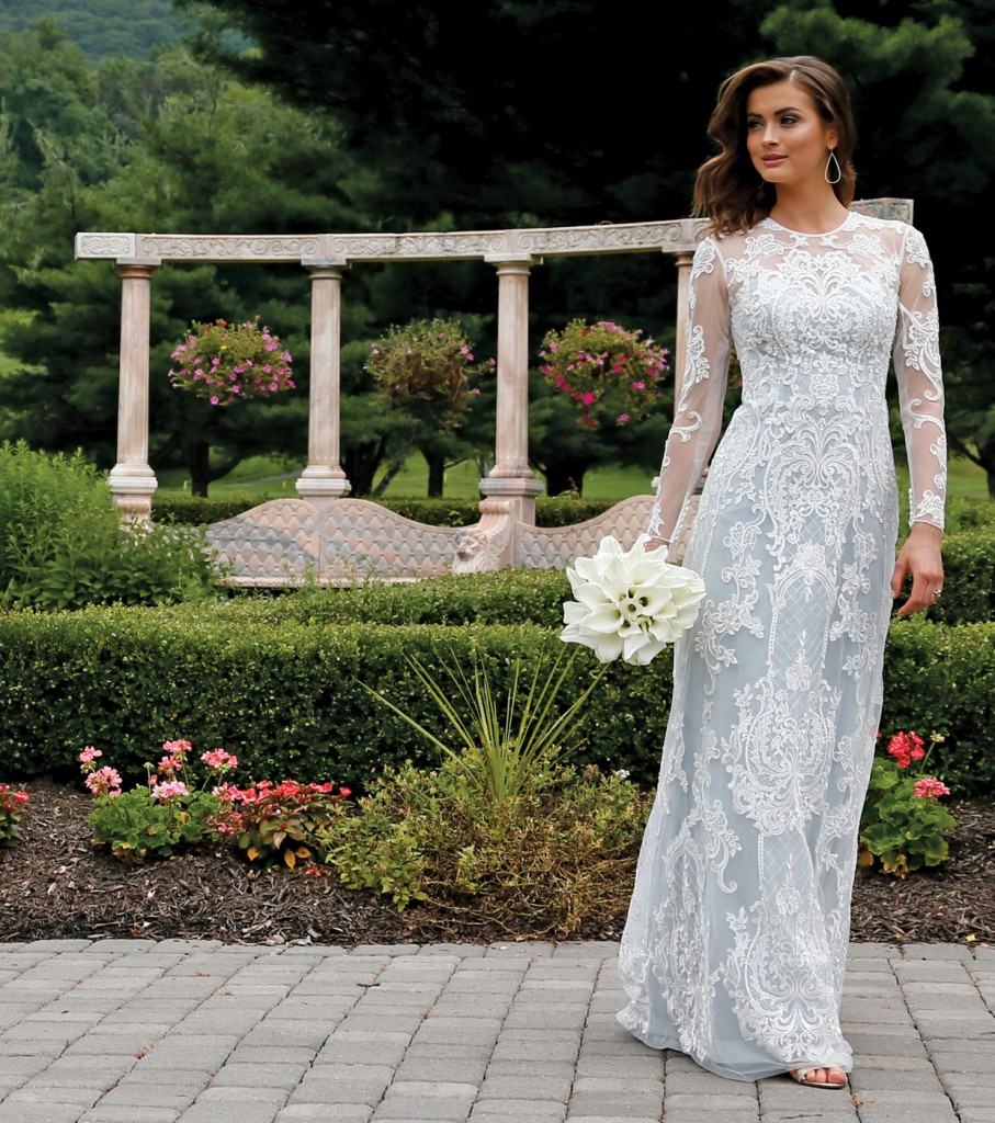 Gown: Oleg Cassini at David's Bridal (CWG782, $1,158), Ariston Flowers