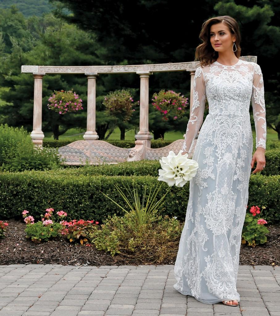 Gown: Oleg Cassini at David's Bridal (CWG782, $1,158), Ariston Flowers