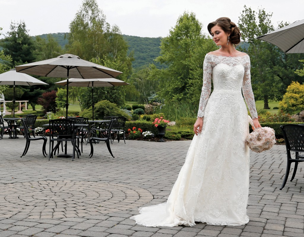 Gown: Oleg Cassini at David's Bridal (CWG765, $1,358), Forever Brooch Bouquets