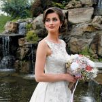 Gown: Oleg Cassini at David's Bridal (CWG658, $1,758), Forever Brooch Bouquets