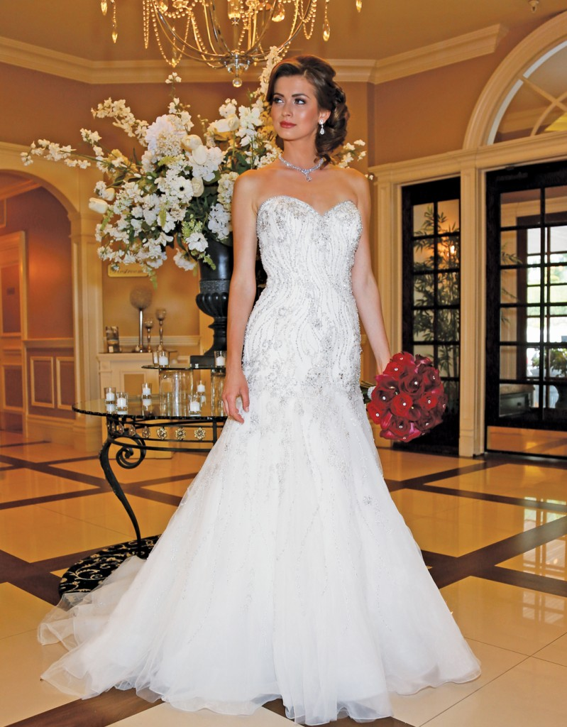 Gown: Eddy K (105, $2,000) at Bossina Couture, Ariston Flowers