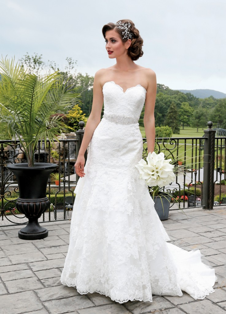 Gown: Allure (9215, $1,350) at Bossina Couture, Ariston Flowers