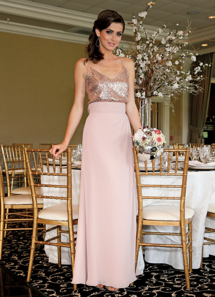 Gown: Watters & Watters at Bossina Couture