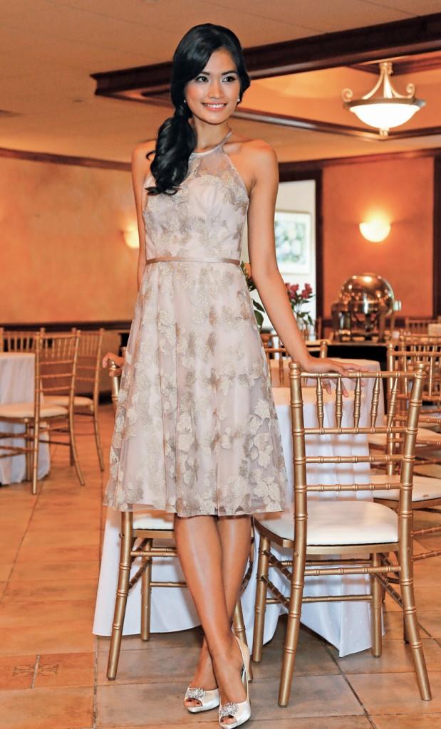 Gown: Oleg Cassini Bridesmaid at David's Bridal
