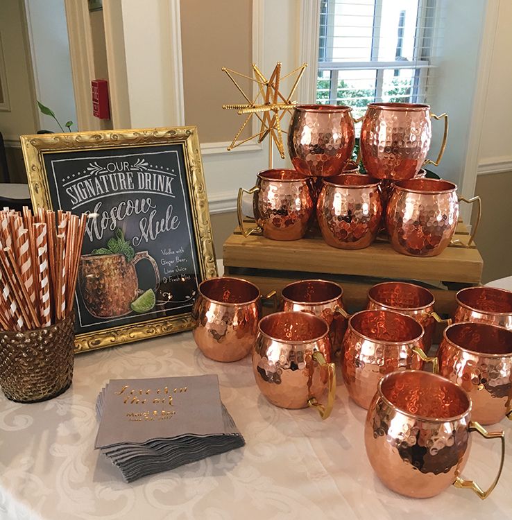 Olde Mill Inn, Moscow Mule Copper Mugs (Photo: Marien Barker)