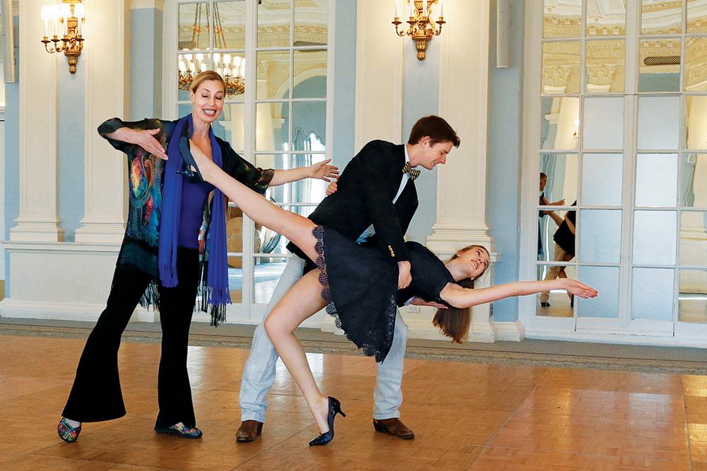 Dance Instructor Karen McDonald, Courtney & Zach