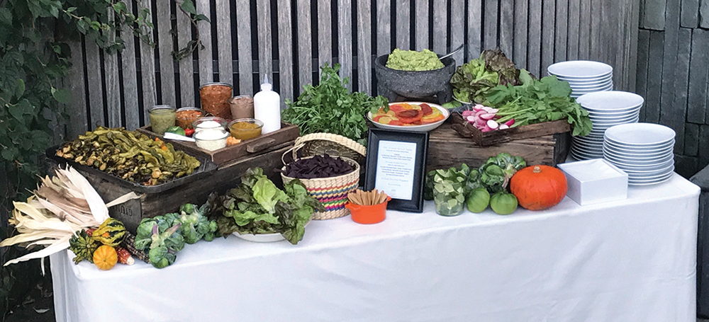 Brooklyn Botanic Garden, Brussel Sprout Taco Station (Photo: Patina Events)
