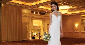Gown: Antonio Gual at Tulle NY (Jane, $3,100), Henry's Florist, Bracelet-KVO Collections, Earrings-David's Bridal