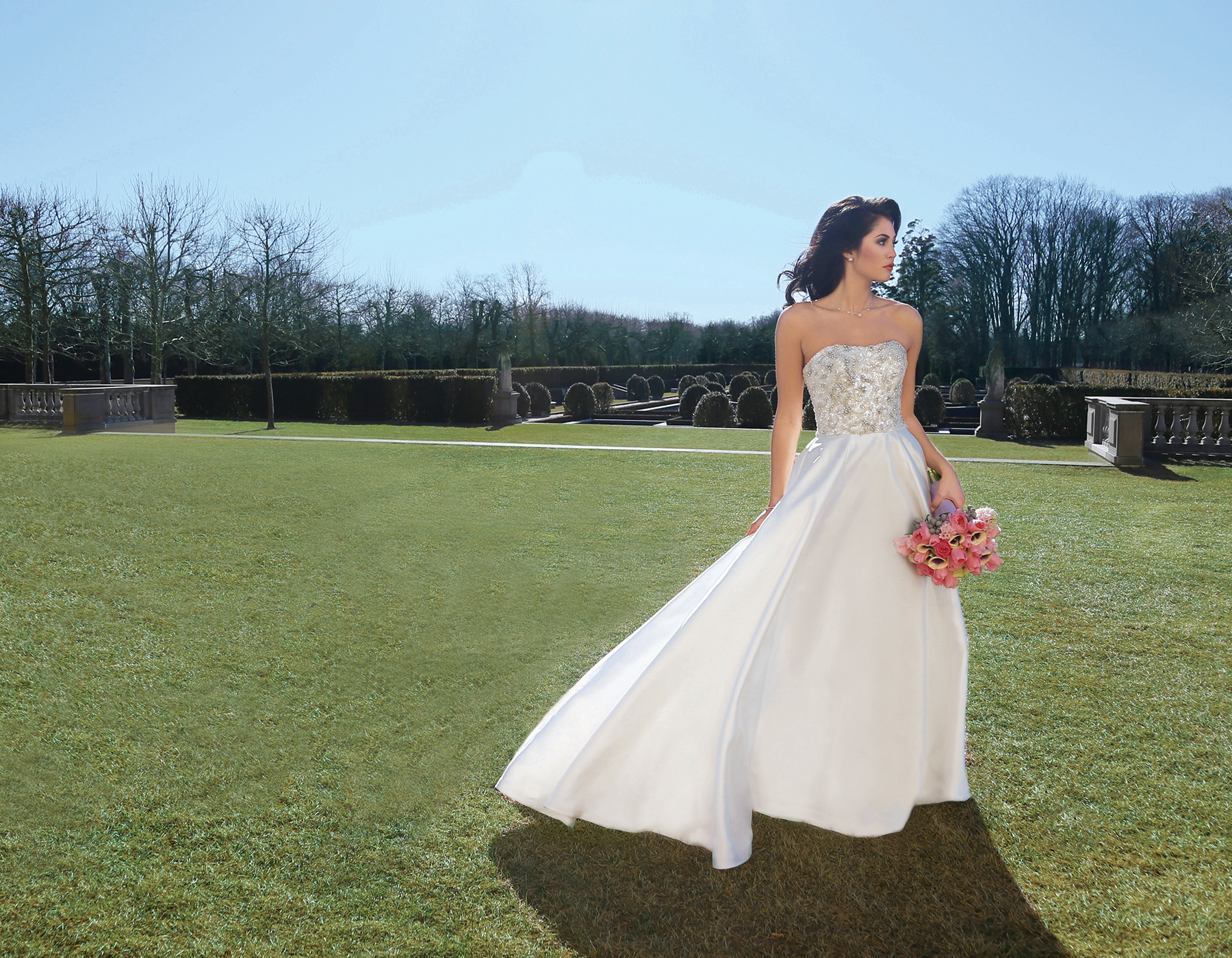Bridal Gowns at Oheka Castle, NY